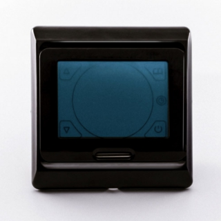 Терморегулятор E 91.716 черная рамка