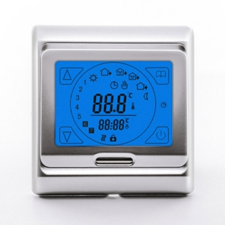 Терморегулятор E 91.716 серебристая рамка