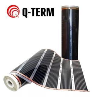 Инфракрасный пленочный теплый пол Q-term, мощность 400 вт/м2, 50 см