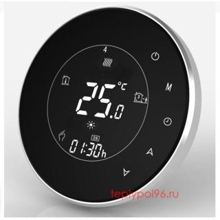 Терморегулятор круглый HY02TP-black
