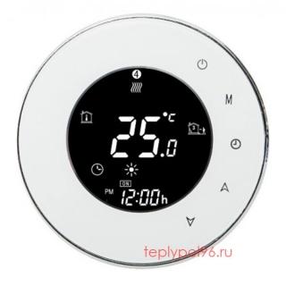 Терморегулятор круглый HY02TP-white